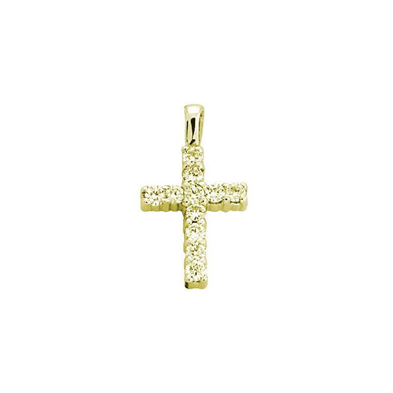 S. Kashi  & Sons Diamond Cross Shared Prong