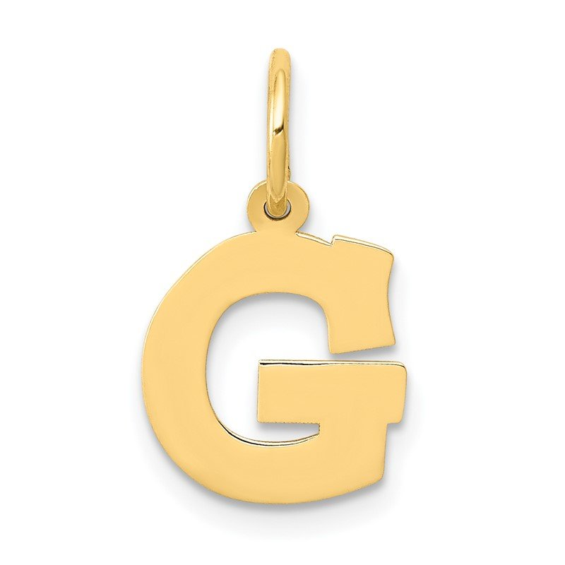 Quality Gold 14k Small Block Letter G Initial Charm
