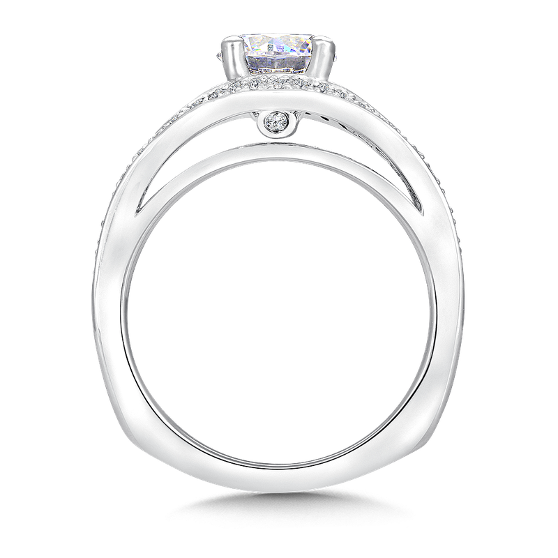 Valina Bridals Mounting with side stones .28 ct. tw., 1 ct. round center.