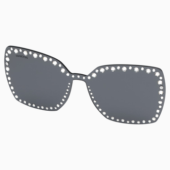 Swarovski Click-on Mask for Sunglasses, SK5330-CL 16A, Gray