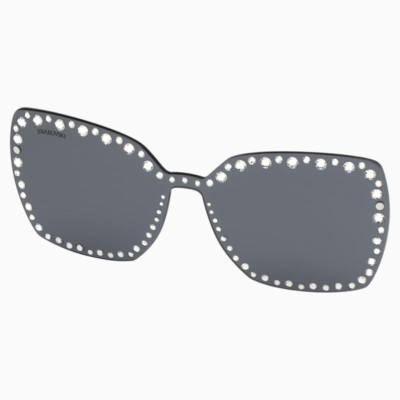 Swarovski Swarovski Click-on Mask for Sunglasses, SK5330-CL 16A, Gray