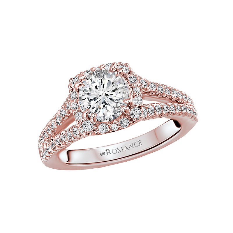 Romance Split Shank Semi-Mount Diamond Ring