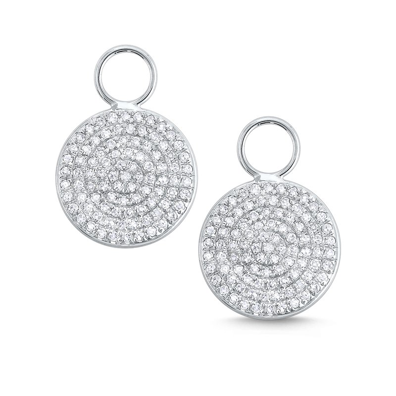 KC Designs Pave Diamond and 14k Gold Disc Earring Charms