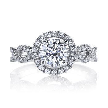 25161 Diamond Engagement Ring 0.49 ct tw