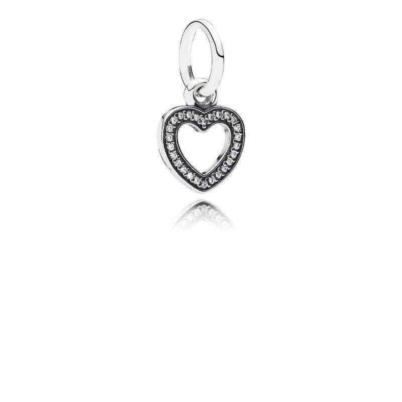b1dcd22c2 PANDORA Symbol Of Love, Clear CZ. Stock # 791304CZ
