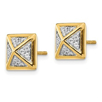 14k Diamond Fancy Earrings