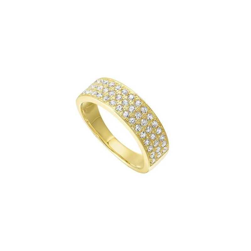 Gems One Diamond Triple Row Stackable Ring in 14k Yellow Gold (1/2ctw)