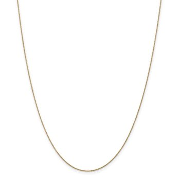 14k .75mm Cable Pendant Chain
