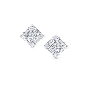 14K Mosaic Stud Earrings