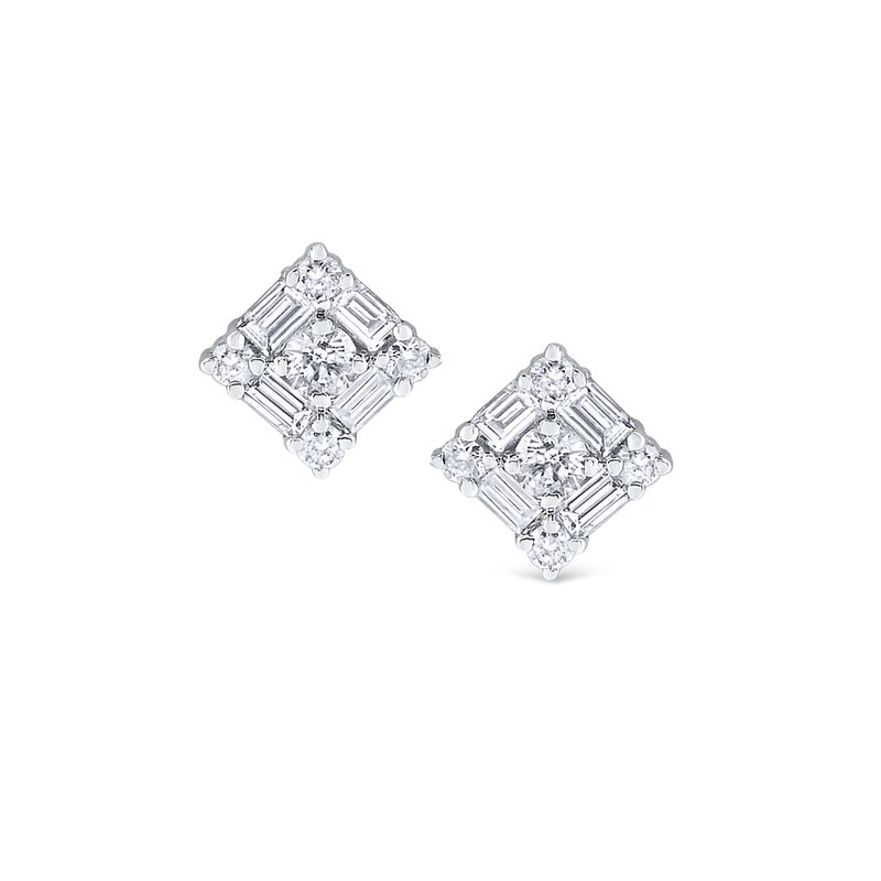 KC Designs 14K Mosaic Stud Earrings
