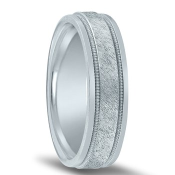 Trending Wedding Band N00123 with Milgrain and Center Finish