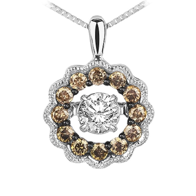 Rhythm of Love 14K Brown Diamond Rhythm Of Love Pendant 3/8 ctw