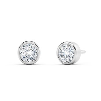 The Forevermark Tribute™ Collection Bezel Stud Earrings