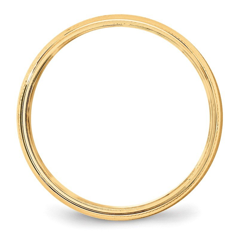 Quality Gold 14KY 5mm LTW Milgrain Half Round Band Size 10