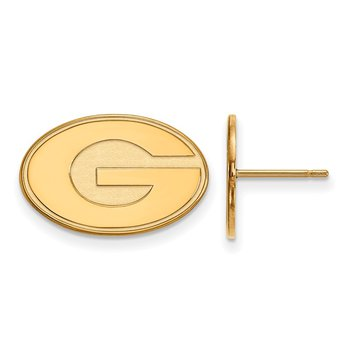 Gold-Plated Sterling Silver University of Georgia NCAA Earrings