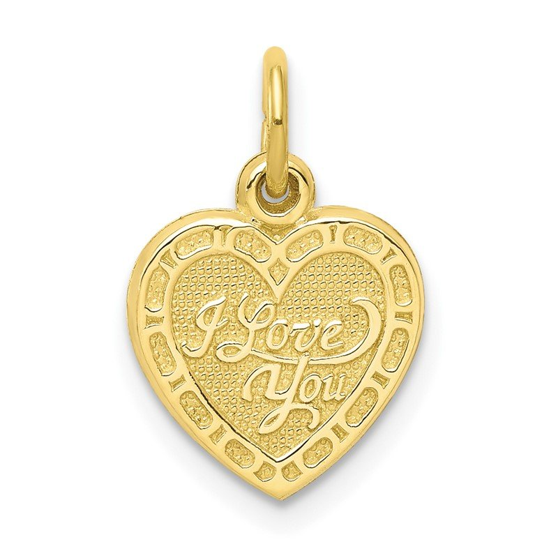 Quality Gold 10K I LOVE YOU Heart Charm