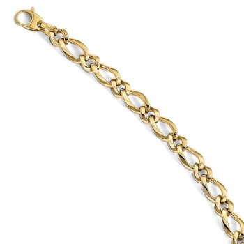 Leslie's 14k Polished Fancy Link 7.5in Bracelet