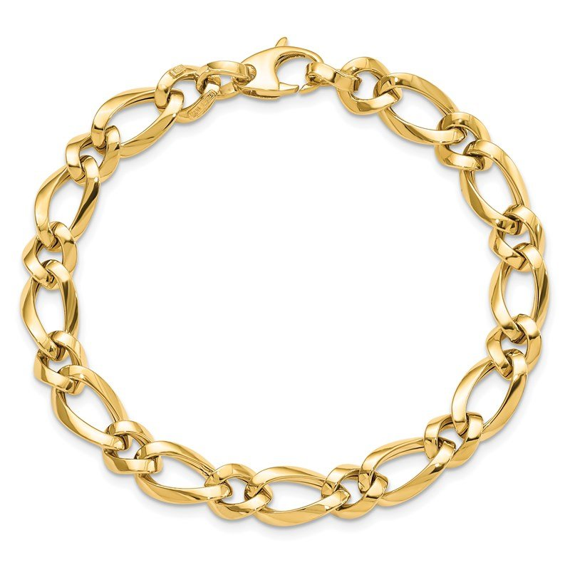 Leslie's Leslie's 14K Polished Fancy Link 7.5in Bracelet