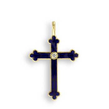 Purple Cross Pendant.18K -Diamond