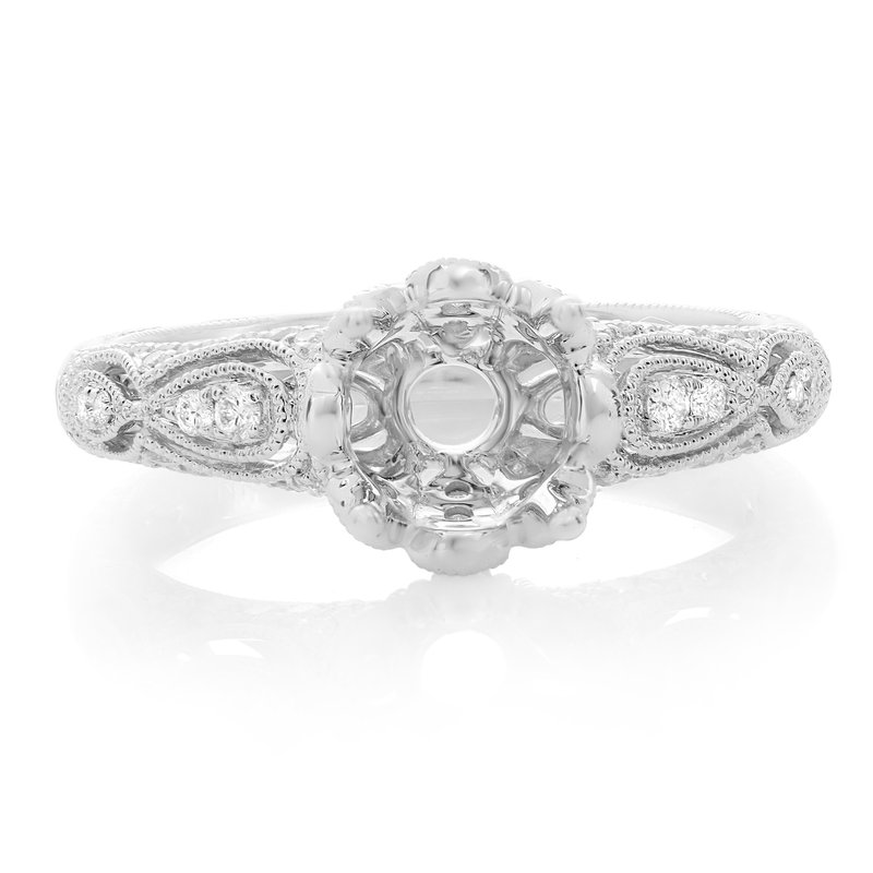 Roman & Jules Vintage Inspired White Gold Engagement Setting