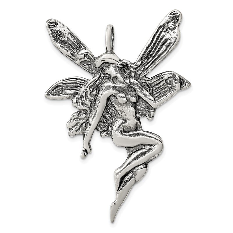 Quality Gold Sterling Silver Fairy Charm