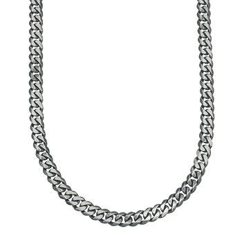 Men's Silver Curb Chain Necklace