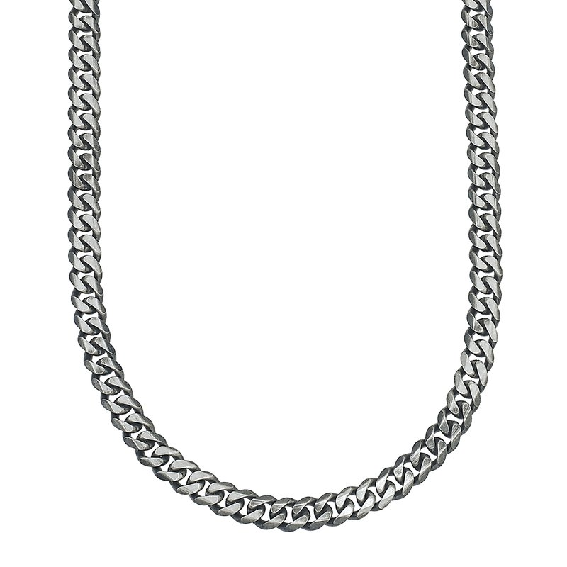 SDC Creations Men's Silver Curb Chain Necklace