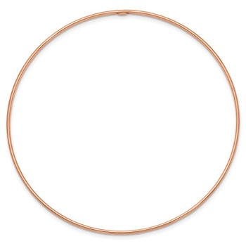 14k 1.5mm Rose Gold Polished Slip-on Bangle Bracelet