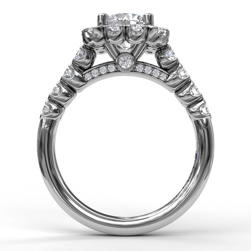 Fana Large Cushion Halo Engagement Ring