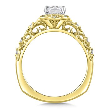 Diamond Engagement Ring Mounting in 14K Yellow Gold (.09 ct. tw.)