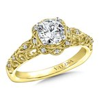 Valina Diamond Engagement Ring Mounting in 14K Yellow Gold (.09 ct. tw.)