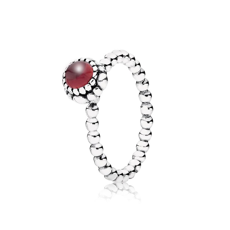 a20f63ded David Arlen Jewelers: PANDORA Birthday Blooms Ring, January, Garnet