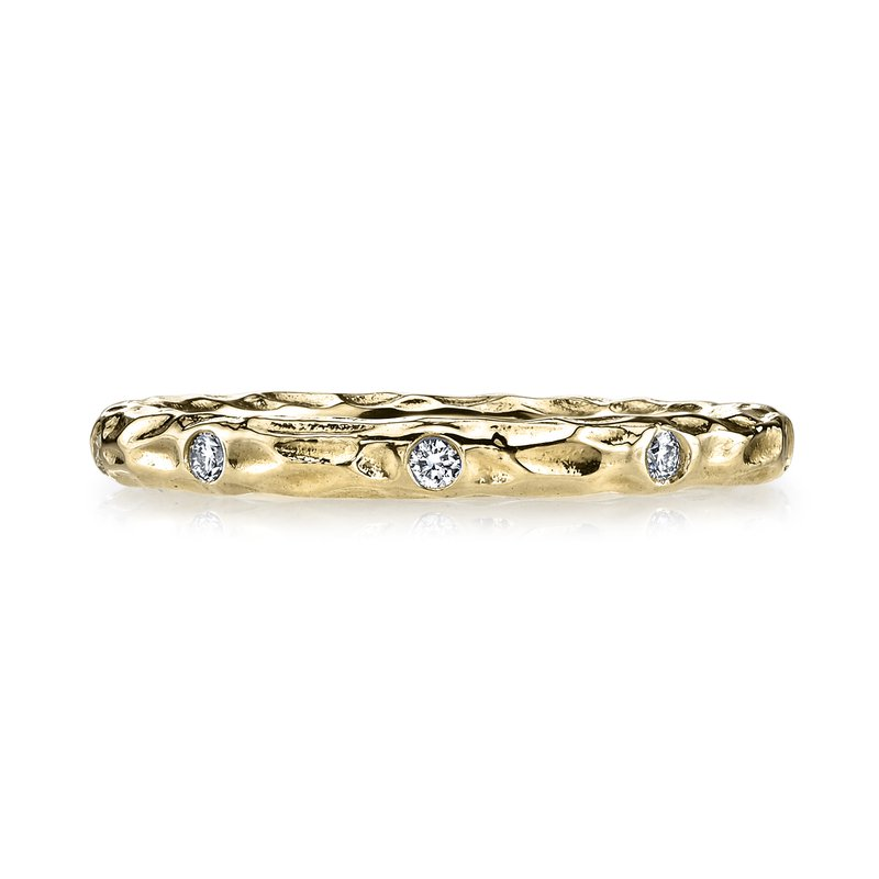 MARS Jewelry MARS 25681YG Stackable Ring, 0.13 Ctw.
