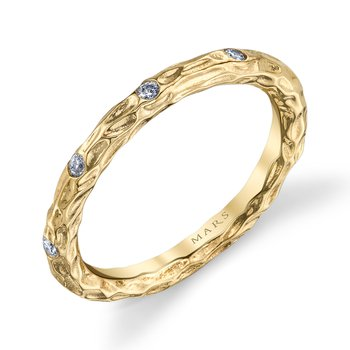 MARS 25681YG Stackable Ring, 0.13 Ctw.