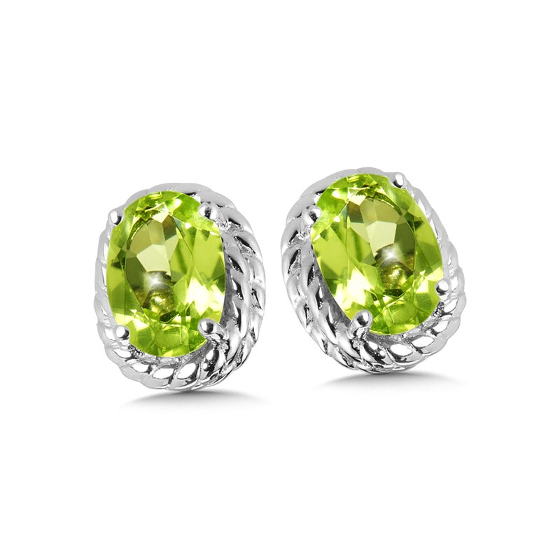 SDC Creations Peridot Earrings in Sterling Silver