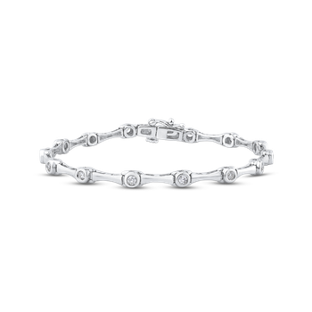 3/4 ct Round White Diamond Gold Tennis Bracelet