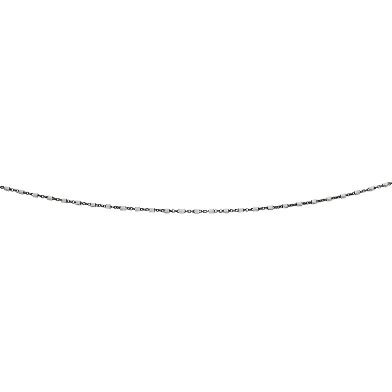 Royal Chain Silver Bead and Bar Anklet
