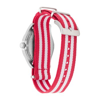 Wisconsin Badgers Men's Striped NATO Strap Watch