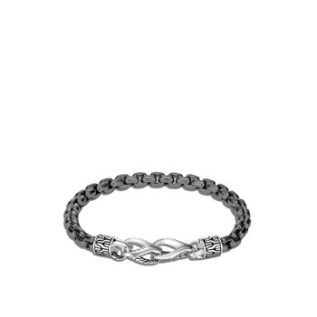 Asli Classic Chain Link 6MM Box Chain Bracelet in Silver