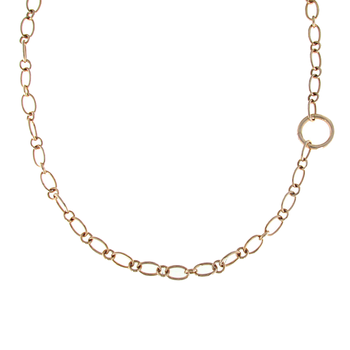 18KT GOLD LONG LINK NECKLACE