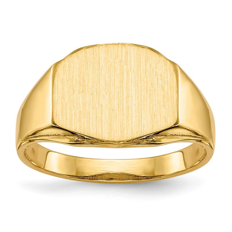 Quality Gold 14k 8.5x11.5mm Open Back Signet Ring