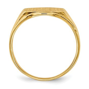 14k 8.5x11.5mm Open Back Signet Ring