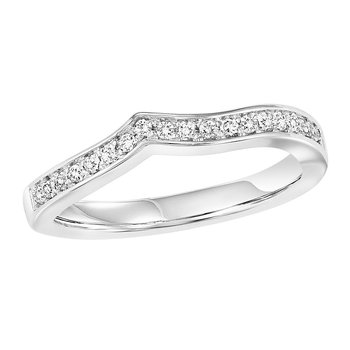 14K Diamond Band 1/10 ctw