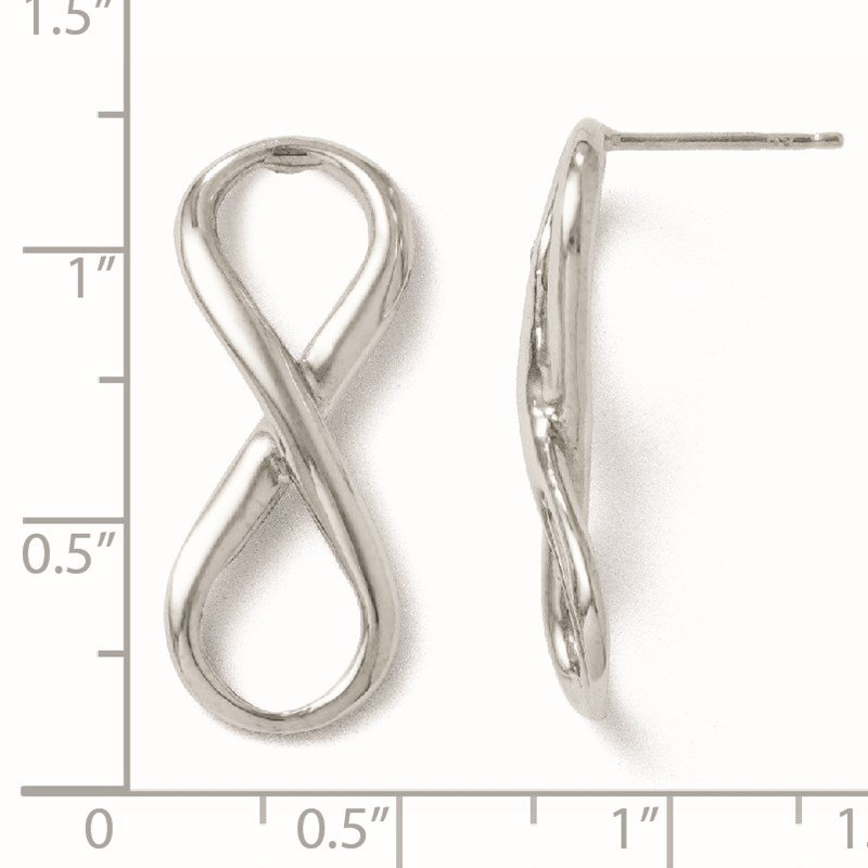Leslie's Leslie's Sterling Silver Polished Infinity Symbol Post Earrings