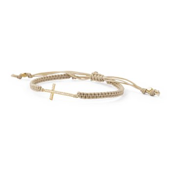 Sand cord, 925 sterling silver 18kt gold plated