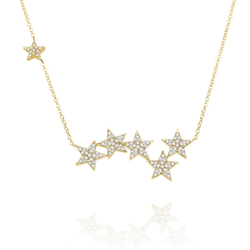 KC Designs 14k Gold and Diamond Multi Star Necklace