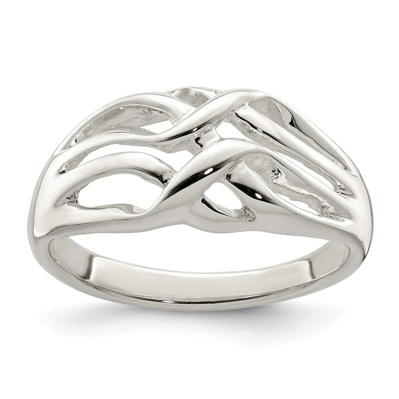 J.F. Kruse Signature Collection Sterling Silver Polished Woven Ring