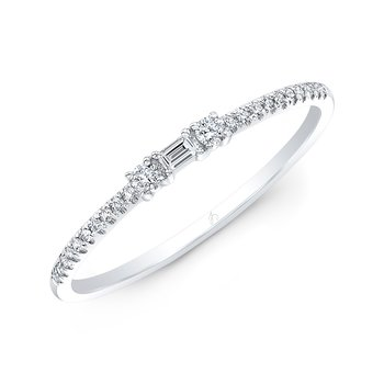 White Gold Stackable Baguette Band