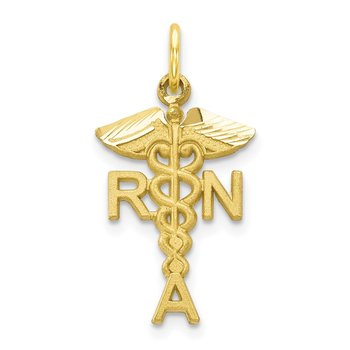 10k Solid Registered Nurse Charm