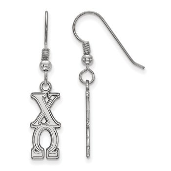 Sterling Silver Chi Omega Greek Life Earrings